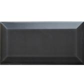 Beveled matte Black Subway Tiles