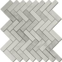 Carrara Marble herringbone 1x3 mosaics