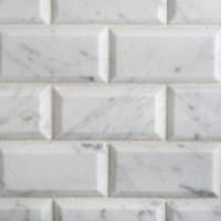 Carrara Marble 2x4 Beveled mosaics