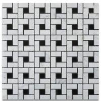 Carrara Marble Pinwheel Mosaics