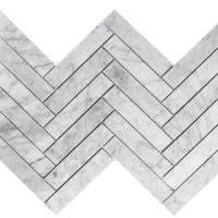Carrara Marble Herringbone